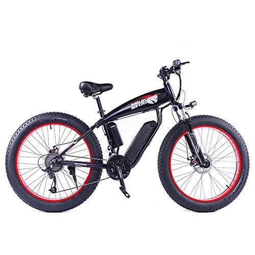 WFIZNB 1000W Fett Reifen Elektrische Bike E Bike Mountainbike 26 Zoll Leistungsstarke Elektrische Fahrrad mit Abnehmbare 48V 13Ah Lithium-Iion Batterie Offroad-Bikes,Rot