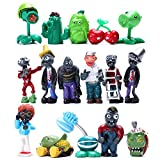 16Pcs Plants vs Zombies Figures PVZ Figurines Cupcake Figures Decorative Toys