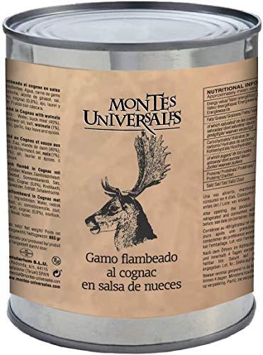 Montes Universales Damhirsch flambé in Cognac mit Walnuss sauce 865 g
