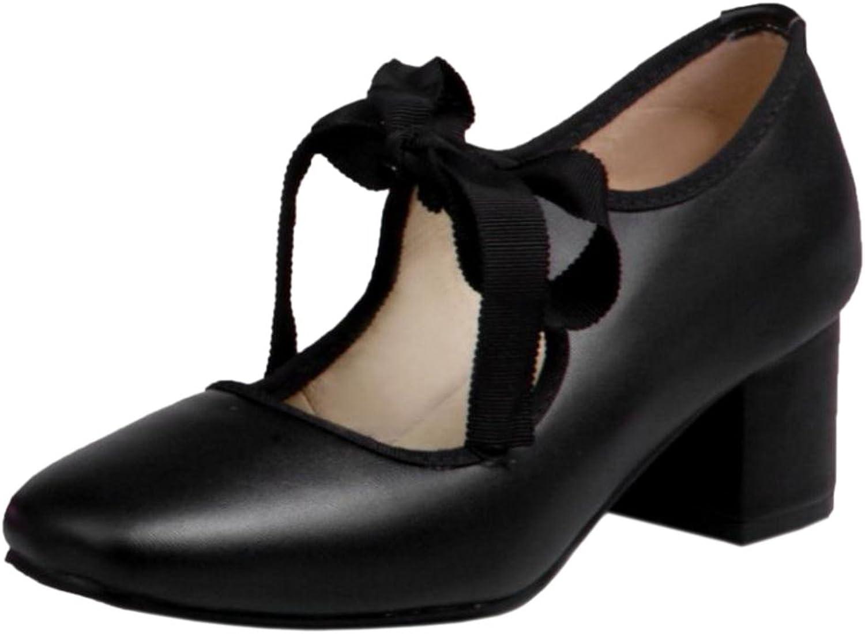RizaBina Women Chunky Heels Pumps