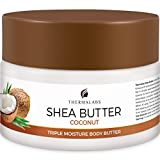 Shea Butter for Body, Stretch Marks Removal Cream: Feel Silky Smooth! Whipped Moisturizer for Dry Skin, Eczema Treatment, Pregnancy Belly Lotion Natural & Organic Ingredients & Dead Sea Minerals 8.5oz