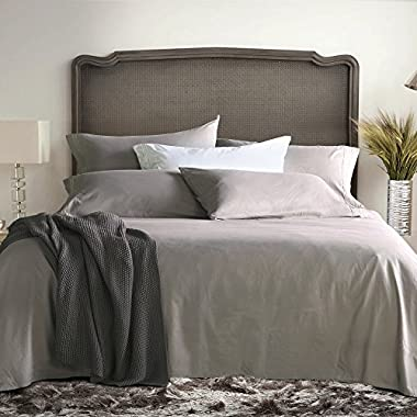 Sable Bed Sheet Set, Brushed Microfiber 1800 Bedding Collection Sets, Hypoallergenic & Super Soft,Breathable, Anti Wrinkle by (Queen, Gray)