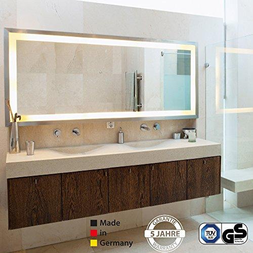 Infrarot Spiegelheizung mit Licht VASNER Zipris S LED mit Chrom-Rahmen 900 Watt Bad Bild 5*
