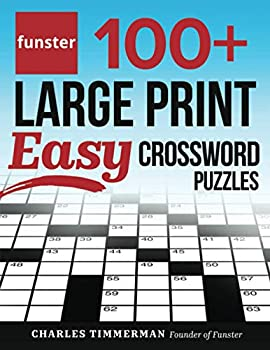 Funster 100+ Large Print Easy Crossword Puzzles  Crossword Puzzle Book for Adults