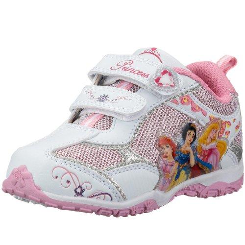 Disney Princess, Baskets pour Fille - - Weiss (Wht/Sil/Pink005), 29 EU