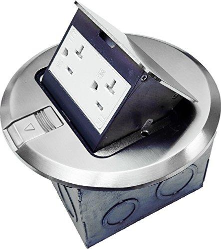 ENERLITES Round Pop-Up Floor Box Kit, 6