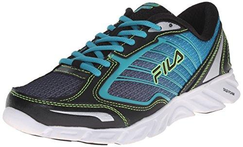Fila womens Fresh 3-w road running shoes, Black/Baltic/Safety Yellow, 9.5 US