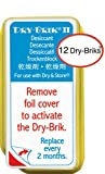Dry-Brik® II Desiccant Blocks - 12 Blocks (4 Packs of 3 Blocks)  Replacement Moisture Absorbing Block for the Global II and Zephyr by Dry & Store   Hearing Device Dehumidifiers