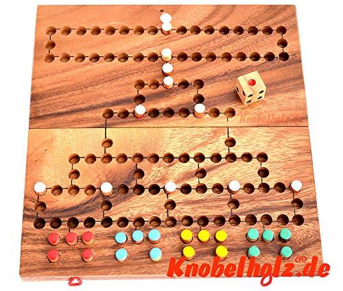 Barricade Blockade Board medium Holz Klappbrett Knobelholz strategisches Würfelspiel für 4 Spieler Blokaden Kinderspiel medium Brettspiel, Gesellschaftsspiel