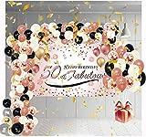 Globos de Cumpleaños Decoracion Regalo Mujer Adultos Feliz para 50 años Happy Birthday Arco Hombres Originales Confeti Numeros Fiesta Adornos Mama Balloons Barato Aniversario Kit Pack Vengalas