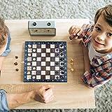 Amazinggirl Schachspiel Schach Schachbrett Holz hochwertig - Chess Board Set klappbar mit Schachfiguren groß für Kinder und Erwachsene 26 x 26 cm - 5