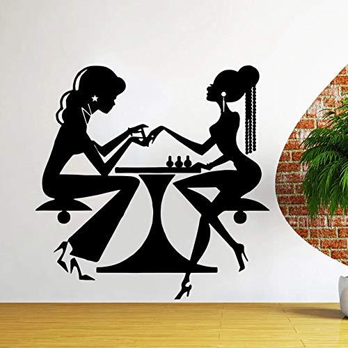 Salón de belleza Barbería Vinilo Adhesivo de pared Letras Motivar gimnasio en casa