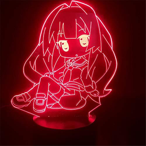 3D-Illusion, Geburtstagsgeschenk, Nachttischlampe, Anime-Girl, eine Tischlampe mit Abbase und Acryl-Lichtbrett, 3D-USB-Schlafzimmerlampe