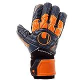 uhlsport Eliminator Supersoft SF Guantes, Azul Marino/Dark Orange, 10