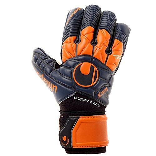 uhlsport Herren Eliminator Supersoft SF Torwart-Handschuhe, Marine/Dark orange/Schwar, 10.0