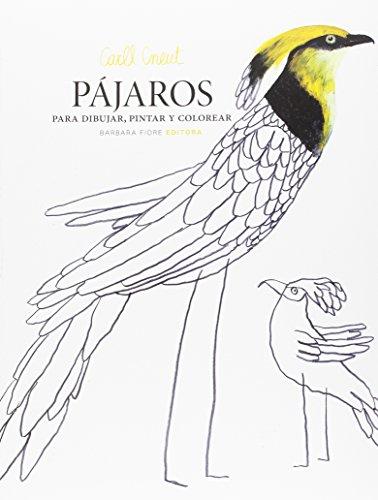 Pájaros para dibujar, pintar y colorear