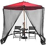 KDOAE Mosquito de Sombrilla de jardín Jardín Parasol Net Garden Mosq-Uito Cove Net Zipper Doorols para Camping al Aire Libre Interior para Acampar en el Jardín al Aire Libre
