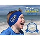 Ear Band-it Ultra (イヤーバンディットウルトラ) ブルー Lサイズ スイミングヘッドバンド - ベスト水泳ヘッドバンド - 水の侵入を防ぎ、耳栓をしっかり支えます- 医師推奨 - 安全な Putty Buddies (パティバディーズ) 耳栓付き- 耳鼻咽喉科医師による発明 JAUEB-WL-B