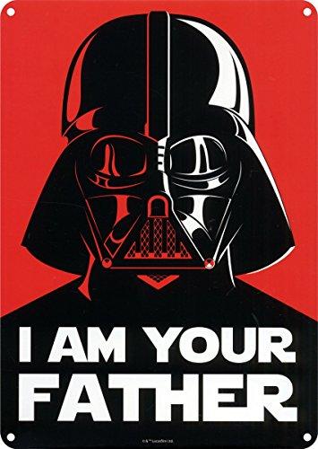 Star Wars Chapa Lamina de Metal pre-Perforada I Am Your Fathe, Multi, Unico