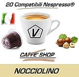 'Cápsulas compatibles Nespresso, 20 Cápsulas Mezcla 'Nocciola - Avellana' Linea Espresso