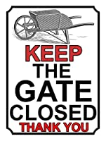 ゲートを閉じたままにする壁錫サイン金属ポスターレトロプラーク警告サインヴィンテージ鉄絵画の装飾オフィスの寝室のリビングルームクラブのための面白いハンギングクラフト