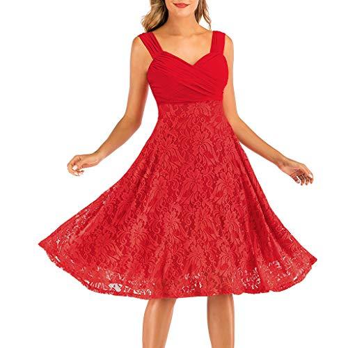 TWISFER Damen Abendkleid Elegant Spitzen Abschlusskleider Brautjungferkleid Sexy Spitze...
