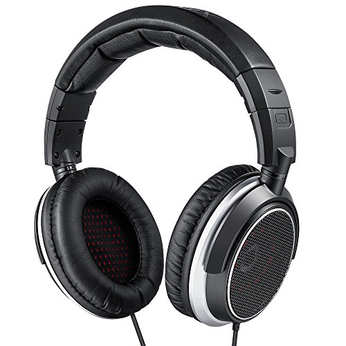 AudioMX HS-5S Studio Monitor Headphones for Mixing and Recording, Open-Back (Replacement Ear Pads and 1/4' Adaptor)