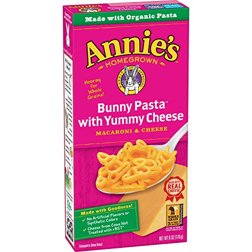 Annie's Bunny Shape Pasta & Yummy Cheese Macaroni & Cheese, 12 Boxes, 6oz (Pack of 12)