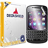 DeltaShield Screen Protector for BlackBerry Q10 (2-Pack) BodyArmor Anti-Bubble Military-Grade Clear TPU Film
