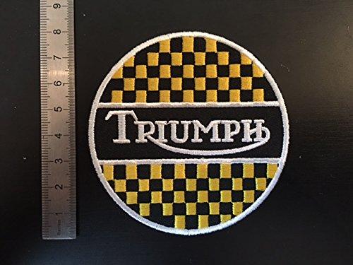 Toppa Triumph Damier - Parche termoadhesivo, color amarillo