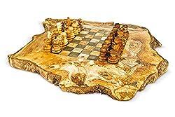 ARTE LEGNO SPELLO SRL Arte Holz Spello SRL Schachbrett rustikal aus Olivenholz mit Schach cm 40x 40