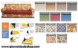 BIANCALUNA Genius 4D Copridivano 3 posti per divani da 180 a 250cm - Colori Fantasia Vision da comunicare