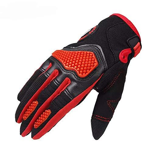 LIANGANAN Invierno Guantes Calientes Vespa motocrós Pantalla táctil Llena de la Motocicleta Dedo - Negro L Etiqueta (Tamaño: Rojo)