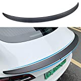 Farmogo Tesla Model 3 Real Carbon Fiber Spoiler Rear Trunk Lip Tail Lid Spoiler Wing Performance Compatible for Tesla Model 3 2018 2019 2020 (Matte) (Matte)