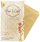 Beeswax Wrap - Plastic Wrap Alternative - 100% Biodegradable Ingredients - Natural Honey Scent - Reduce Your Use of Plastic - Reusable - Proceeds Donated to Bee-Protecting Charities - Bee Wild Co.