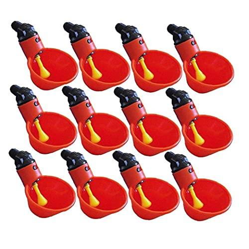 Canjerusof 12 Uds bebedero de pezón de agua bebedero automático de pollo bebedero de pezón gallina pato aves de corral bebedero de agua