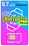 Padfender SIM Card for Kids Smart Watch - 3 in 1 SIM Card GSM 2G 3G 4G LTE - Kids Smartwatches and Wearables - 30 Day Service