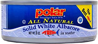 MW Polar Tuna, All Natural Solid White Albacore in Water, 5-Ounce (Pack of 24)