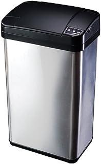 手をかざすと自動で開くゴミ箱 センサーダストボックス【SDB-16LT】16Lタイプ/ステンレス製・消臭剤・芳香剤収納BOX付き