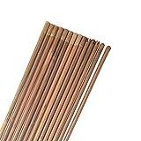 MILAEM 12 Piezas Tiro con Arco de bambú 32 Pulgadas Ejes de Flecha para DIY Caza Diámetro de...