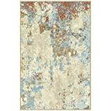Maples Rugs Southwestern Stone Distressed Abstract Kitchen Rugs Non Skid Accent Area Floor Mat [Made...