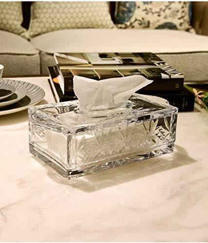 Qivor TLF-FF Caja del Tejido del Tejido de Almacenamiento de Caja Los titulares de Tejido tisular Oficina de la Sala de Cristal Caja de Gama Alta decoración Transparente