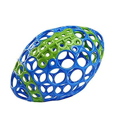 Bright Starts Oball Grasp & Play Football Easy-Grasp Toy - Blue/Green, 12350