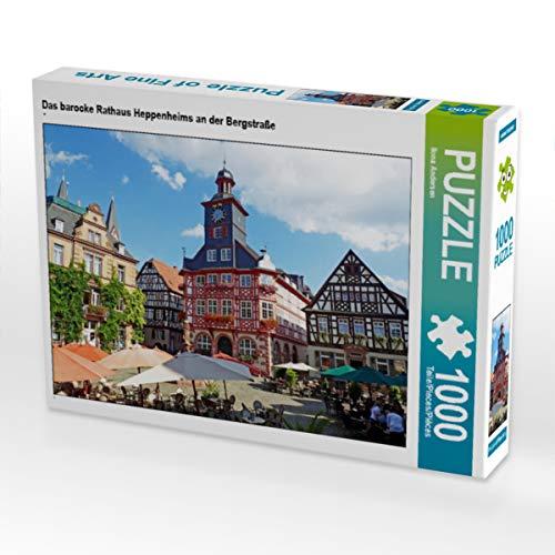 CALVENDO Puzzle Das barocke Rathaus Heppenheims an der Bergstraße 1000 Teile Lege-Größe 64 x 48 cm Foto-Puzzle Bild von Ilona Andersen