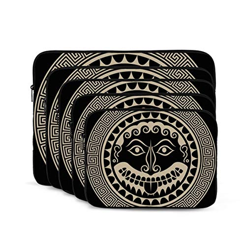 KDIEDIEAS Ancient Greece Shield with Gorgon Medusa Head 12/13/15/17 Inch Laptop Sleeve Bag for MacBook Air 13 15 MacBook Pro Portable Zipper Laptop Bag Tablet Bag,Diving Fabric,Waterproof