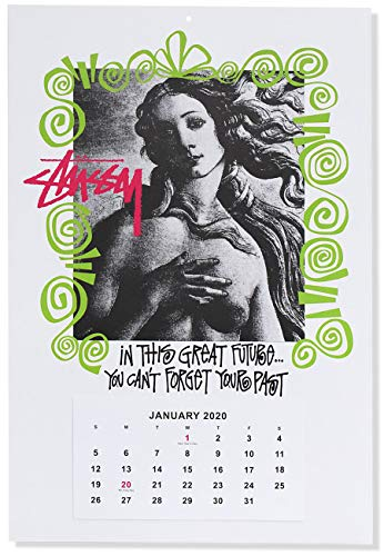 [ステューシー] カレンダー 2020 ワンサイズ ホワイト [並行輸入品]