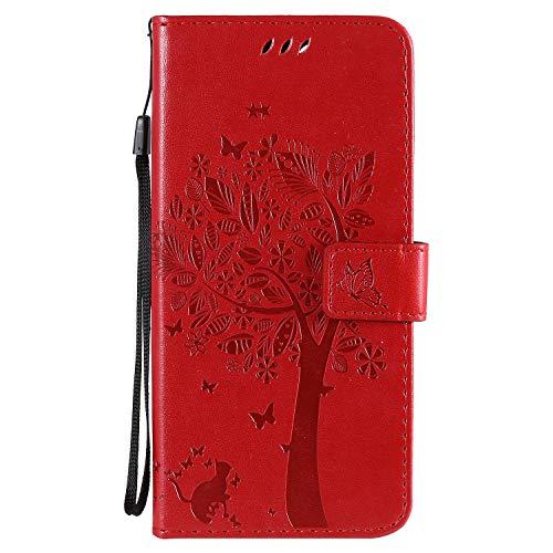 DEKT022234 - Funda para iPhone 12 Pro Max de 6,7', función atril, tarjetero, piel sintética,...