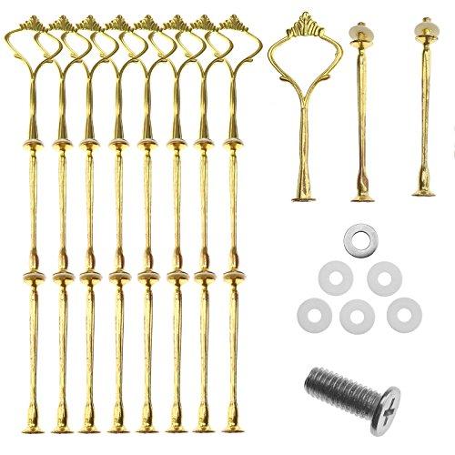 10 tlg Golden Metallstange Tortenständer Tortenhalter Mittellochausstech Für Hochzeitstorte Party 2 bis 3 Etagere
