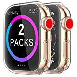 [2 Pack] BRG Case for Apple Watch Screen Protector 40mm 44mm 38mm 42mm,iWatch Series 5 4 3 Soft TPU HD Clear Ultra-Thin Overall Protective Cover Case