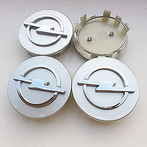 4Pcs Coche Rueda Cubo Centro Tapa para Opel Astra H G J Insignia Mokka Zafira Corsa Ampera, Car Centrales Cubierta Insignia Impermeable Estilo DecoracióN Modificadas Accesorios